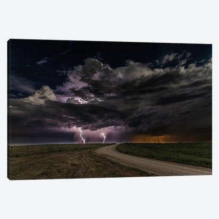 Prairie Lightning 3-Piece Canvas #OXM3390} by Christian Skilbeck Canvas Print