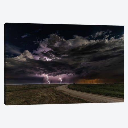 Prairie Lightning Canvas Print #OXM3390} by Christian Skilbeck Canvas Print