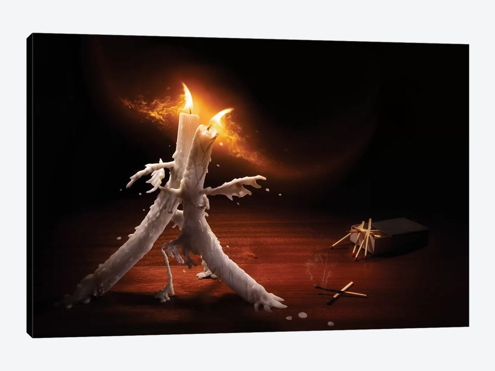 Candlelight Tango 1-piece Canvas Wall Art