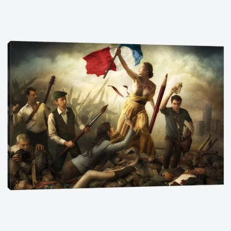 Liberté d'Expression 3-Piece Canvas #OXM3394} by Christophe Kiciak Canvas Artwork