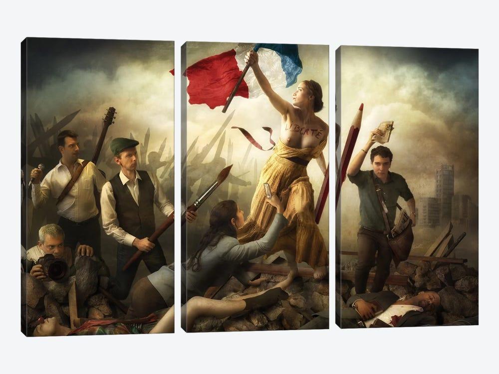 Liberté d'Expression by Christophe Kiciak 3-piece Canvas Wall Art