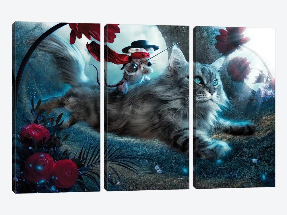 The Hero by Christophe Kiciak 3-piece Canvas Print