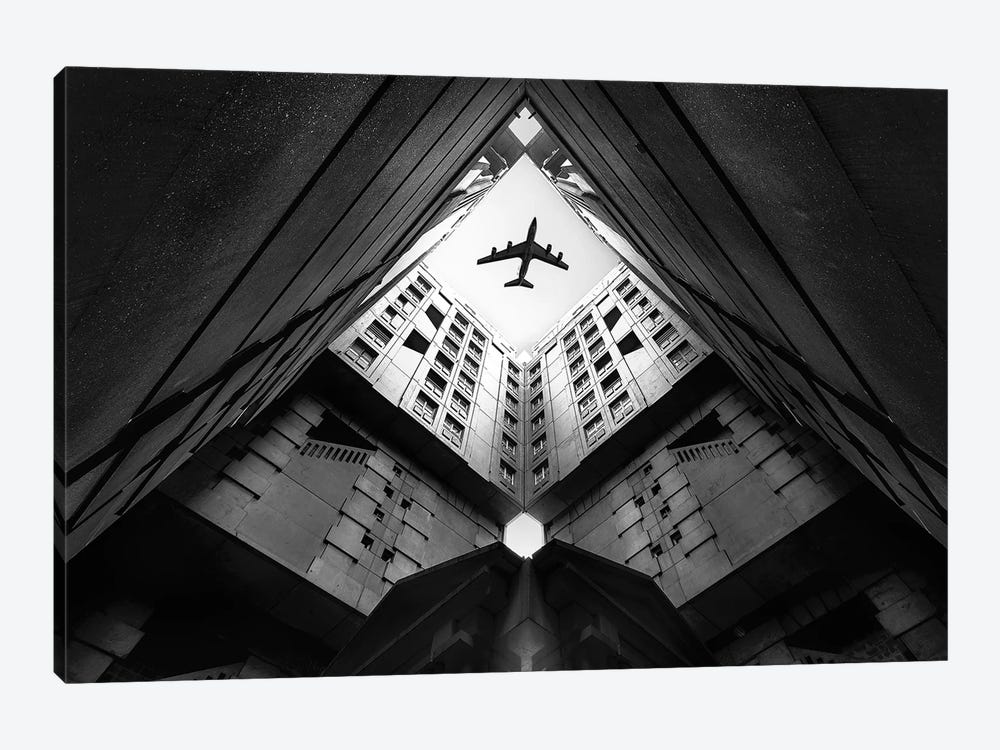 Plane City by Correy Christophe 1-piece Canvas Art Print