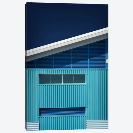 Blue White Blue White Canvas Print #OXM340} by Mathilde Guillemot Canvas Art Print