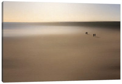 Figures On An Oiled Beach Canvas Art Print