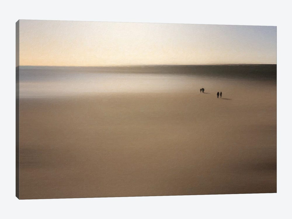Figures On An Oiled Beach by Dave Quince 1-piece Canvas Art