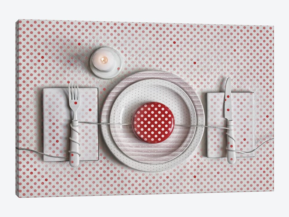 Dotted Dinner by Dimitar Lazarov 1-piece Art Print