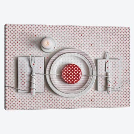 Dotted Dinner 3-Piece Canvas #OXM3427} by Dimitar Lazarov Canvas Artwork