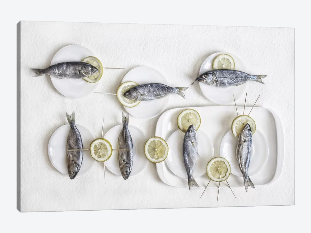 Still Life With Fish by Dimitar Lazarov 1-piece Art Print