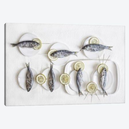 Still Life With Fish Canvas Print #OXM3429} by Dimitar Lazarov Canvas Art Print