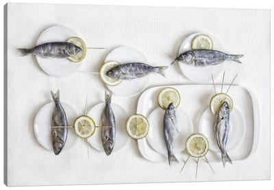 Still Life With Fish Canvas Art Print