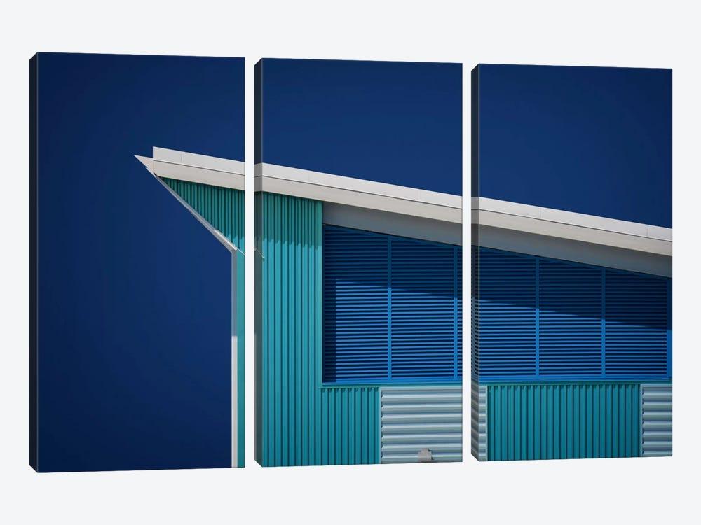 Rhapsody In Blue by Mathilde Guillemot 3-piece Canvas Wall Art
