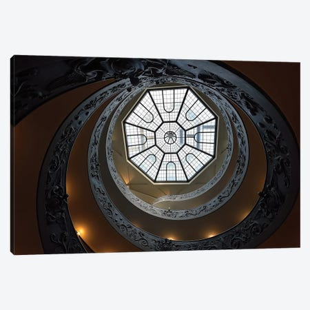 The Double Helix Staircase Canvas Print #OXM3453} by Edoardo Gobattoni Canvas Wall Art