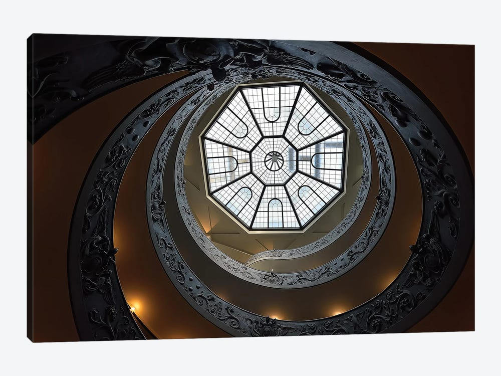 The Double Helix Staircase by Edoardo Gobattoni 1-piece Canvas Art