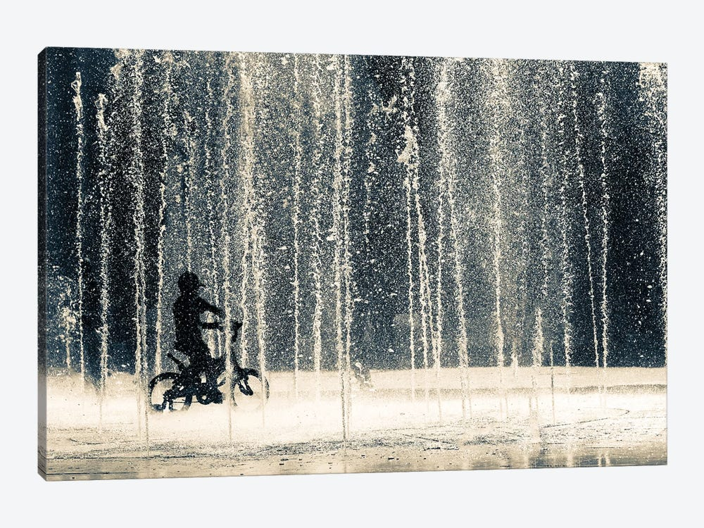 Ride Through The Drops by Ehsan Razzazi 1-piece Canvas Art