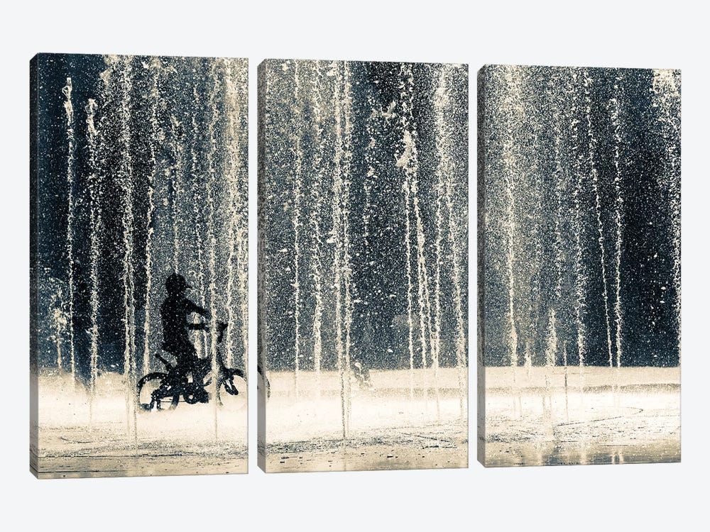 Ride Through The Drops by Ehsan Razzazi 3-piece Canvas Wall Art
