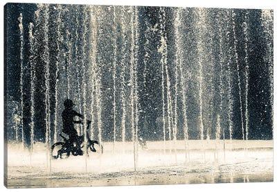 Ride Through The Drops Canvas Art Print