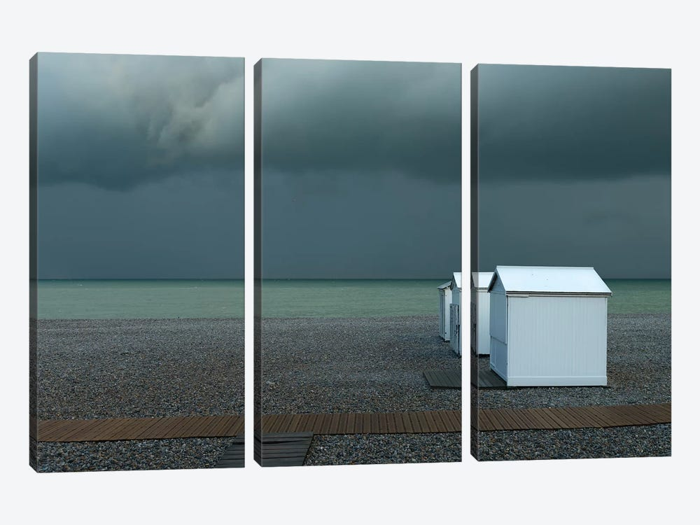 Beach Houses by Elisabeth Wehrmann 3-piece Canvas Print