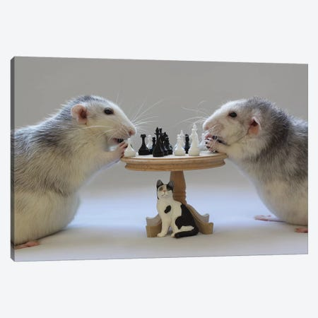 Playing Chess! Canvas Print #OXM3461} by Ellen van Deelen Art Print