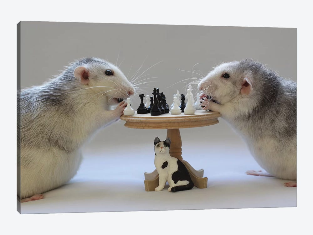 Playing Chess! by Ellen van Deelen 1-piece Art Print