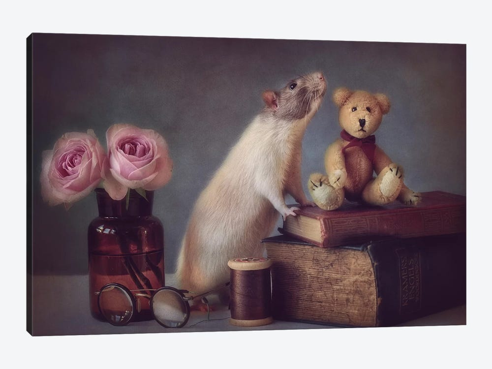 Snoozy And Friend by Ellen van Deelen 1-piece Canvas Print