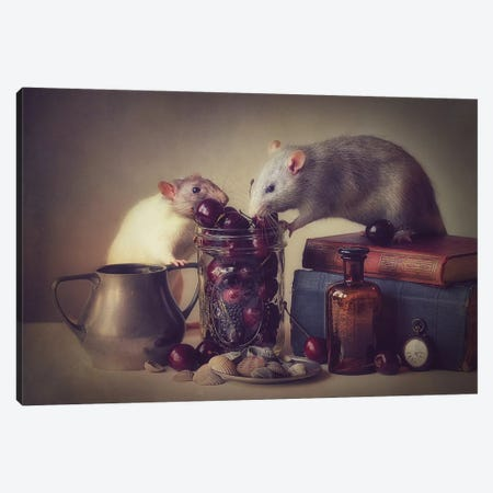 Snoozy And Jimmy Canvas Print #OXM3464} by Ellen van Deelen Canvas Art