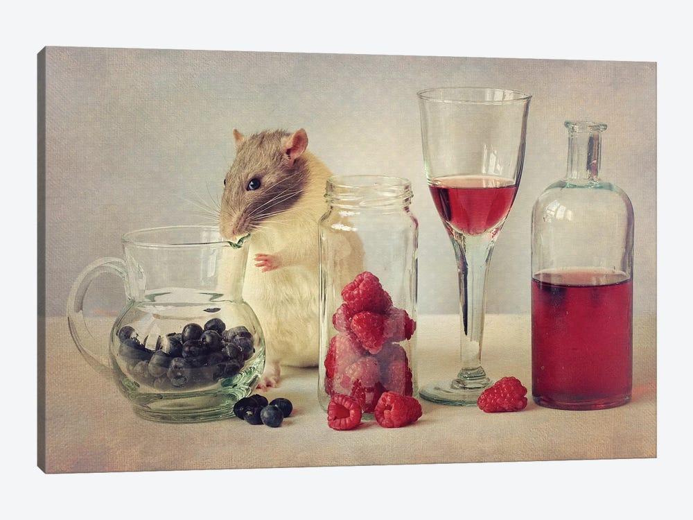 Snoozy Loves To Eat by Ellen van Deelen 1-piece Canvas Art Print