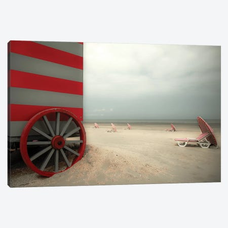 Red Wagon Canvas Print #OXM3509} by Gilbert Claes Canvas Artwork