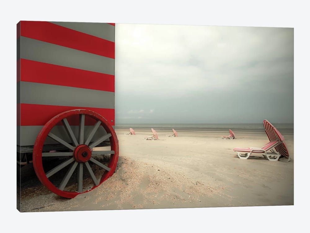 Red Wagon by Gilbert Claes 1-piece Canvas Wall Art