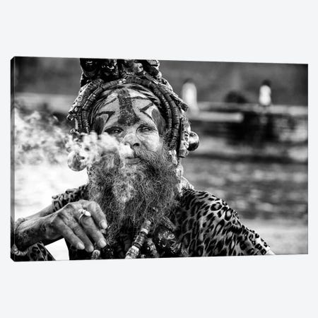 Ganga Baba Canvas Print #OXM3525} by Goran Jovic Art Print