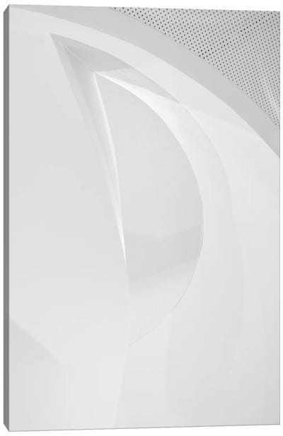 Shapes In White Canvas Art Print