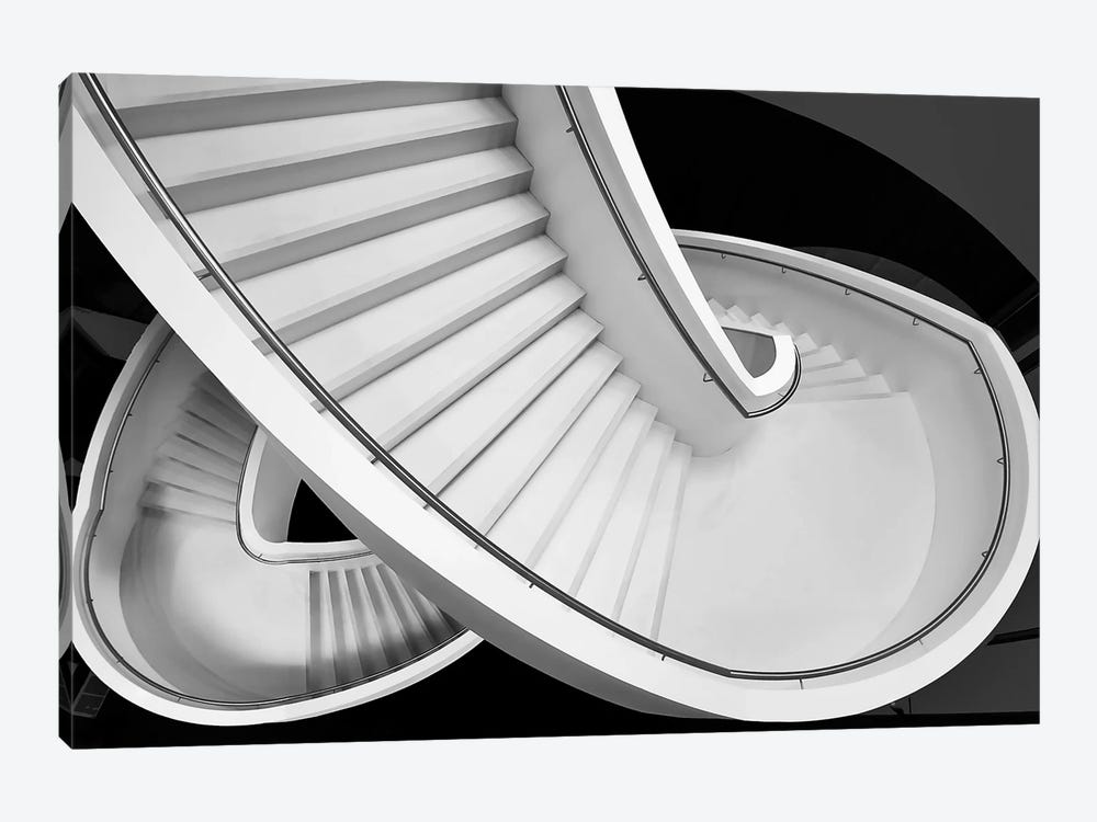 B&W Staircase by Henk van Maastricht 1-piece Canvas Print
