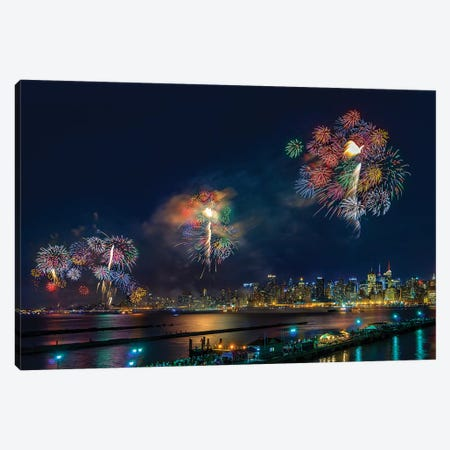 Celebration Of Independence Day In NYC Canvas Print #OXM3569} by Hua Zhu Canvas Art
