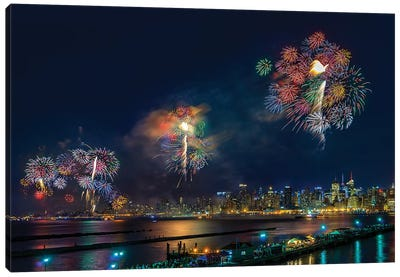 Celebration Of Independence Day In NYC Canvas Art Print