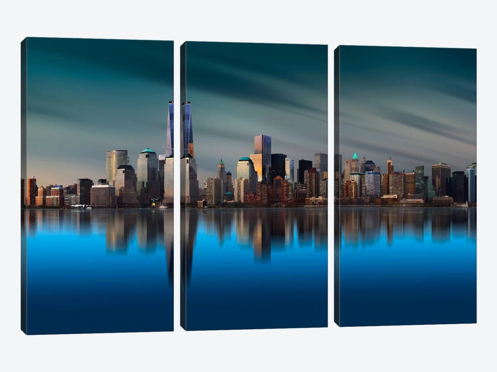 New York World Trade Center 1 by Yi Liang 3-piece Canvas Artwork