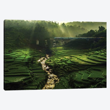 Crossing The Beautiful Bridge Canvas Print #OXM3583} by Ismail Raja Sulbar Canvas Art