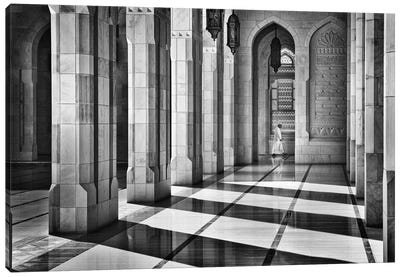 Shadows In The Mosque Canvas Art Print