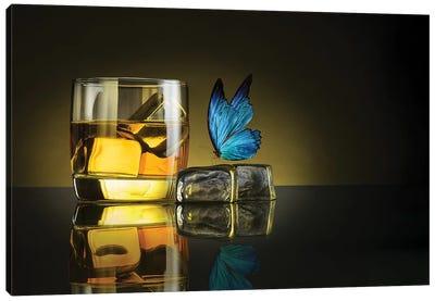 Butterfly Drink Canvas Art Print