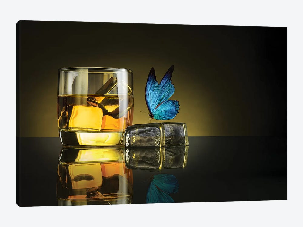 Butterfly Drink by Jackson Carvalho 1-piece Canvas Art Print