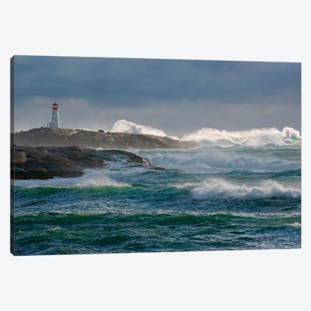 In The Protection Of A Lighthouse Canvas Print #OXM3606} by Jamie Morrison Canvas Wall Art
