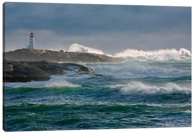 In The Protection Of A Lighthouse Canvas Art Print