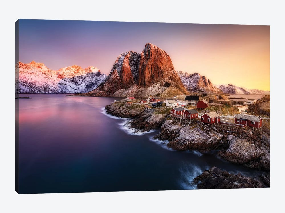 Hamnøy Sunrise by Javier de la Torre 1-piece Canvas Wall Art