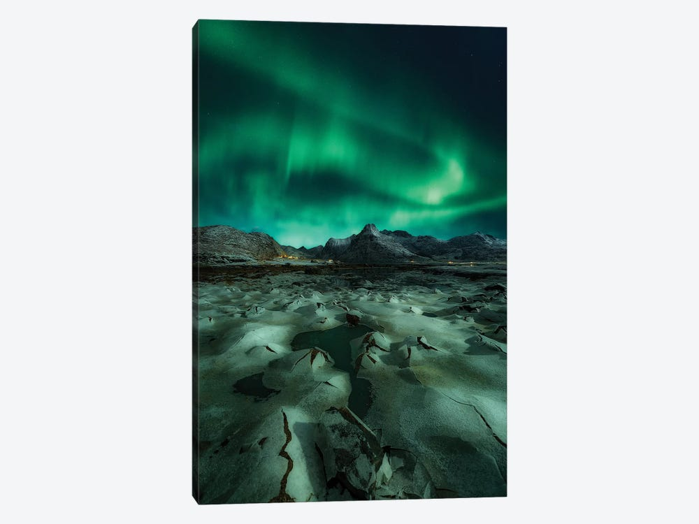 Ice Cracking by Javier de la Torre 1-piece Canvas Print