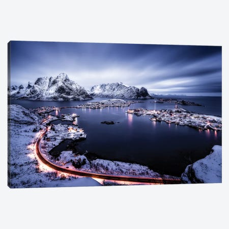 Reine Blue Hour Canvas Print #OXM3618} by Javier de la Torre Canvas Artwork