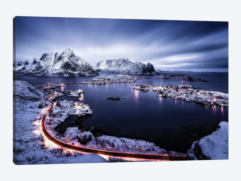 Reine Blue Hour by Javier de la Torre 1-piece Canvas Wall Art