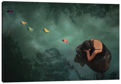 Paper Boat Canvas Art Print