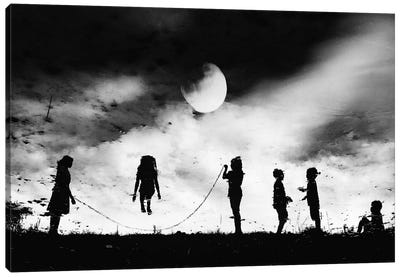 The Game High Jump Canvas Art Print