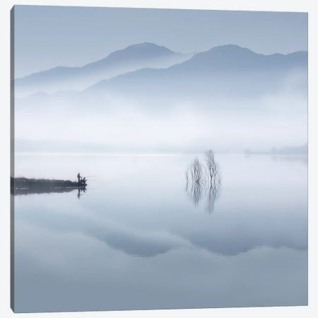 Blue Silence Canvas Print #OXM3659} by Jose Beut Canvas Wall Art
