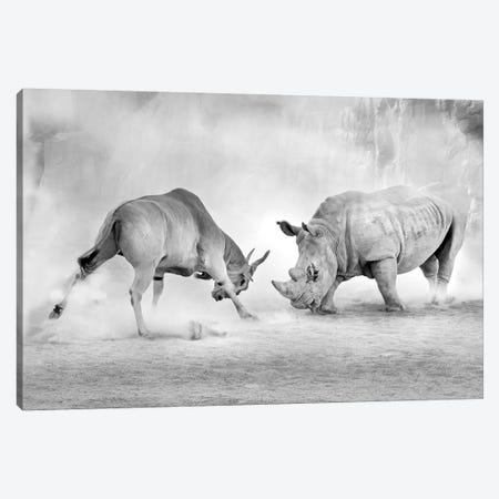 Combat Canvas Print #OXM3665} by Juan Luis Duran Canvas Artwork