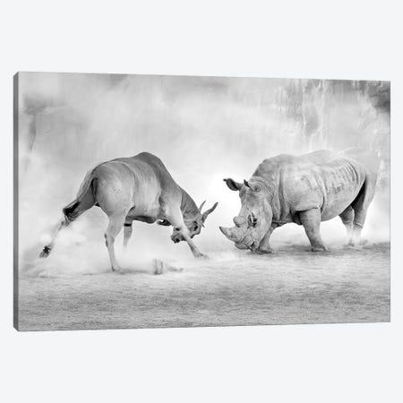 Combat Canvas Print #OXM3665} by Juan Luis Duran Canvas Artwork